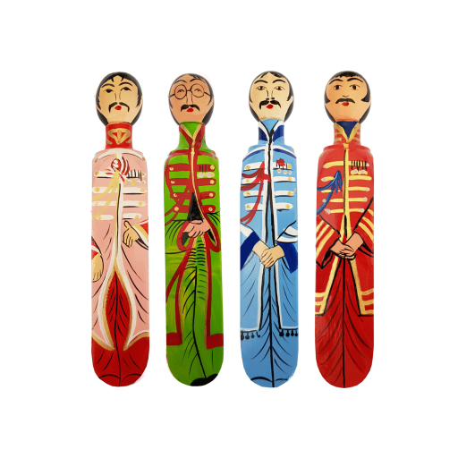 Image of Wedgie | Door Stoppers - The Fab Four Pack Wood