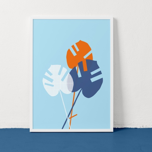 Image of Clare Nicolson | Cheese Plant Blue - Recycled Paper