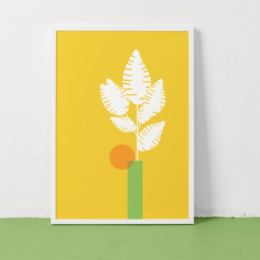 Image of Clare Nicolson | Fern Yellow - Recycled Paper