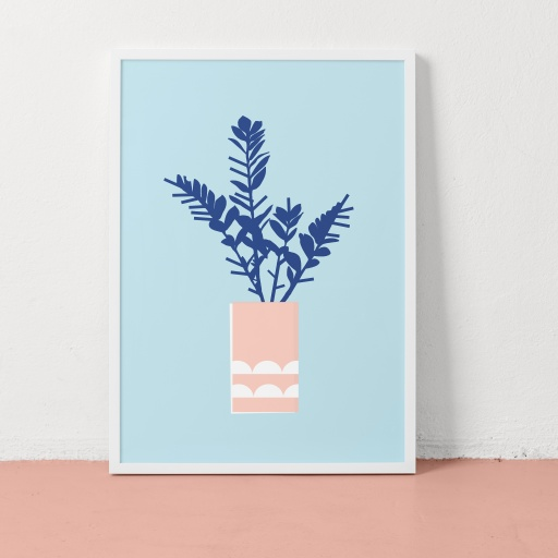 Image of Clare Nicolson | Money Plant Blue - Recycled Paper