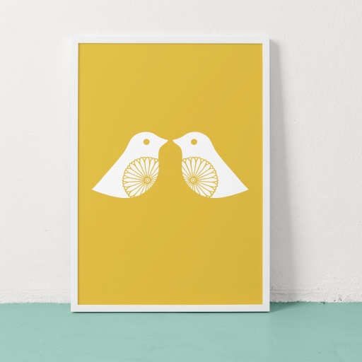 Image of Clare Nicolson | Lovey Dovey Yellow - Recycled Paper