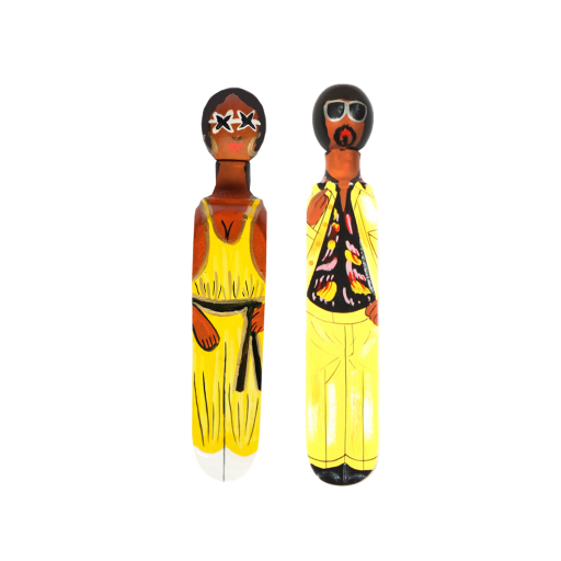 Image of Wedgie | Door Stoppers - Disco Pack (Brutus & Donna) Wood