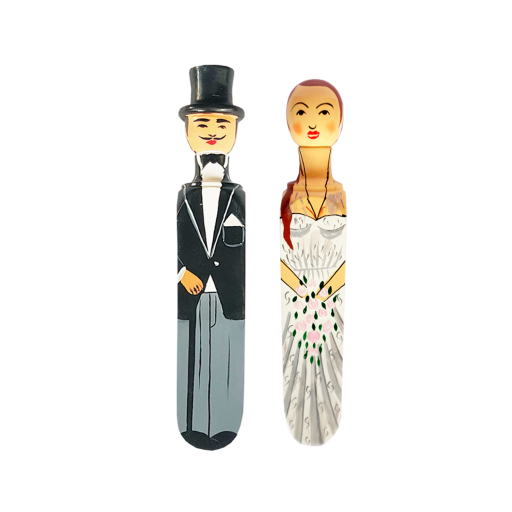 Image of Wedgie | Door Stoppers - Wedding Pack - (Sandra & Charles) Wood