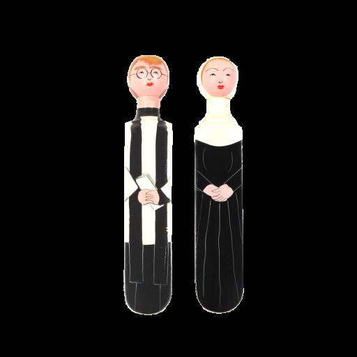 Image of Wedgie | Door Stoppers - Heavenly Pack (John & Mary) Wood
