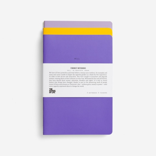 Image of The School Of Life | Feminist Notebooks (3 Pack)
