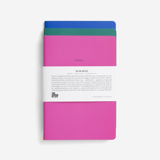 Image of The School Of Life | Pop Art Notebooks (3 Pack)