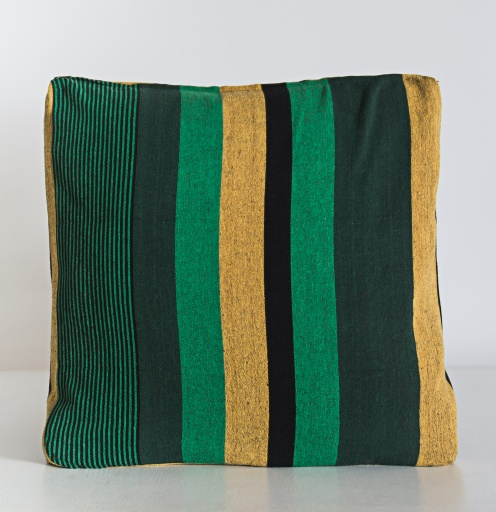 Image of Nommy | Handloom Cushion Cover NCC006 - Cotton Green Stripe