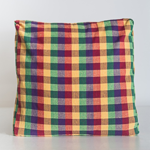 Image of Nommy | Handloom Cushion Cover NCC002 - Cotton Multi Plaid