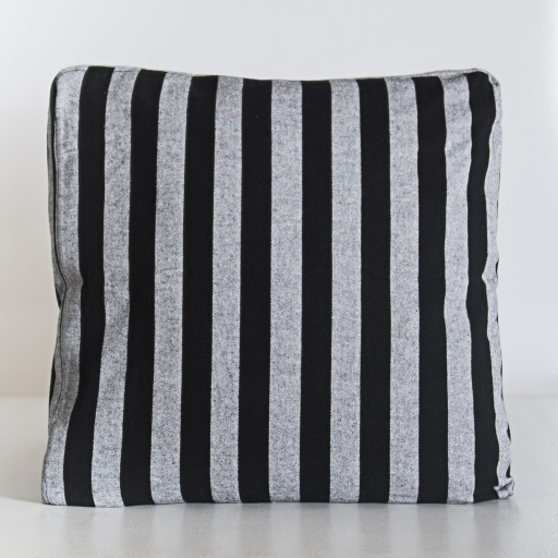 Image of  | Handloom Cushion Cover NCC003 - Cotton Mono Stripe