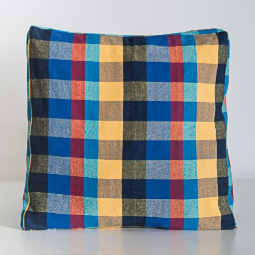 Image of  | Handloom Cushion Cover NCC005 - Cotton Plaid