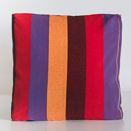 Image of  | Handloom Cushion Cover NCC001- Cotton Multi Stripe