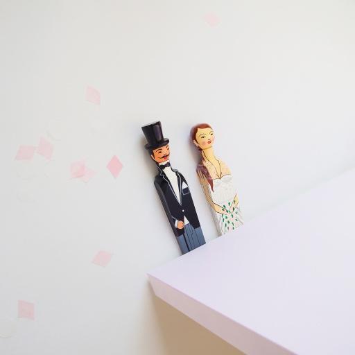 Image of Wedgie | Door Stoppers - Wedding Pack - (Sandra & Charles) Wood