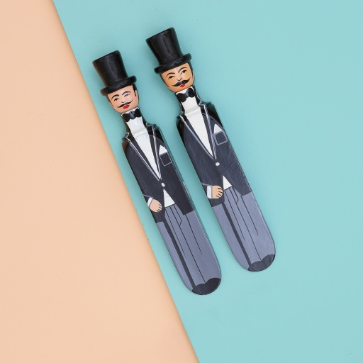 Image of Wedgie | Door Stoppers - Wedding Pack - (Charles & Charles) Wood