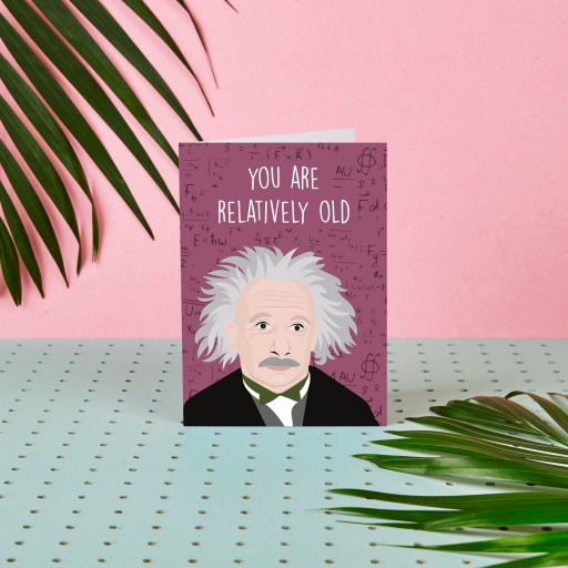 Image of Rumble Cards | Albert Einstein Card Relatively Old