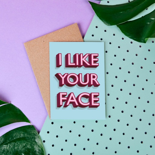 Image of Rumble Cards | I Like Your Face Card I Like Your Face