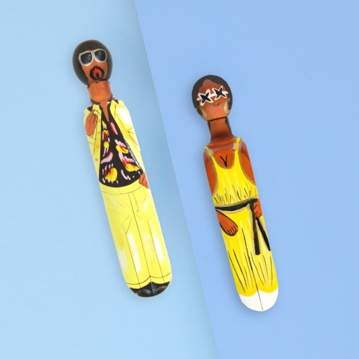 Image of Wedgie | Door Stoppers - Old Disco Pack (Old Brutus & Old Donna) Wood