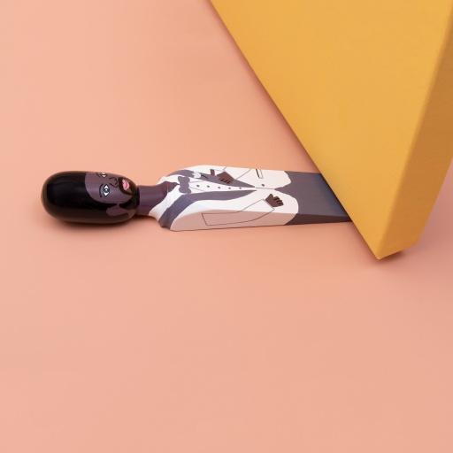 Image of Wedgie   Door Stopper (The Husband) Wood
