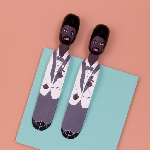 Image of Wedgie   Door Stopper - Wedding Pack (The Husband & The Husband) Wood